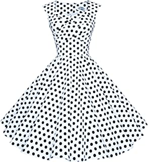 Maggie Tang Women's 50S 60S Vintage Retro Swing Rockabilly Party Dress