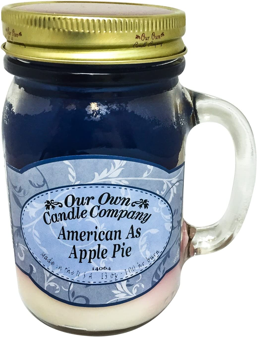 American as Apple Pie Scented 13 Max 61% OFF Ranking TOP14 oz Candle t Made - Mason in Jar