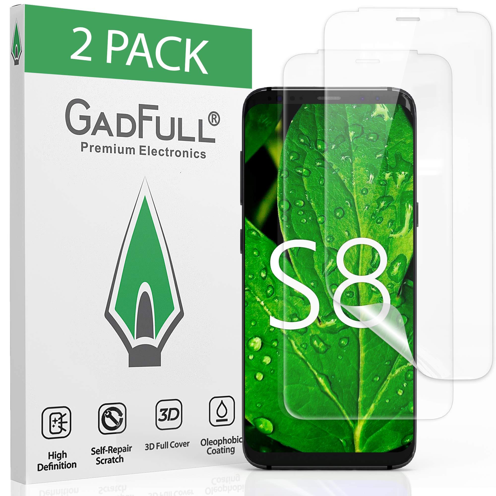GadFull 2 Piezas Samsung Protector de Pantalla para Samsung Galaxy S8 | Lámina Autoreparadora Curativa Suave de Cobertura Total y Alta Definición 3D: Amazon.es: Electrónica