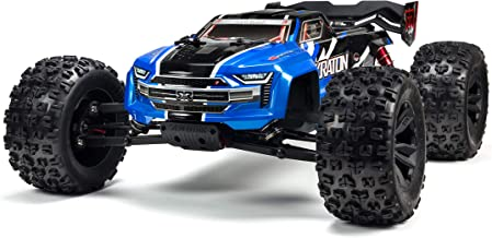 ARRMA KRATON 1/8 Scale BLX Brushless 4WD RC Speed Monster Truck Rtr (6S LiPo Battery Required) with 2.4Ghz STX2 Radio, ARA106040T2 (Blue)