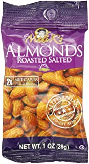 Madi K's Roasted and Salted Almonds, 1-Ounce Bags (Pack of 48) (144 Pack)
