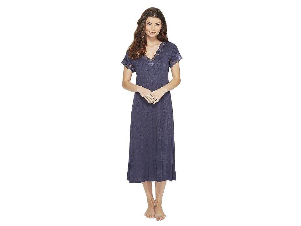 Natori Zen Floral Nightgown (Heather Night Blue) Women