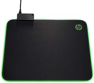 HP Pavilion Gaming Mouse Pad 400, USB Pass Through, RGB LED, Anti-Fray & Non Slip