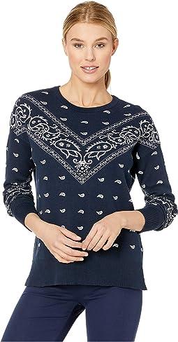 Bandana Print Sweater