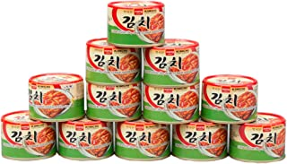 Korean Canned Kimchi, Original Authentic Tasteful Can Napa Cabbage Kim Chi Condiment,..
