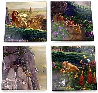 Disney – Lion King – Return to Pride Rock – Simba and Nala – Thomas Kinkade – For Gifting Collecting – Comes with stylish modern wooden holder