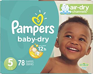 Diapers Size 5, 78 Count - Pampers Baby Dry Disposable Baby Diapers, Super Pack