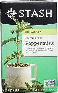 Stash Tea Peppermint Herbal Tea 20 Count Tea Bags in Foil 0.7 oz (Pack of 6), Premium Herbal Tisane, Minty Refreshing Herb...