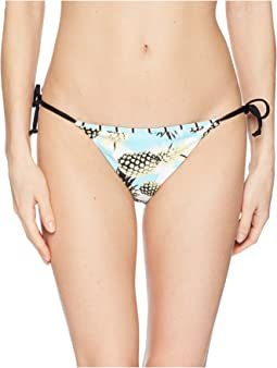 THE BIKINI LAB Pineapple Playa Reversible String Tie Hipster Bottom