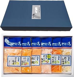 三幸 新潟の味6点セット ギフト箱入り サーモン塩辛など 袋詰めセット E-16