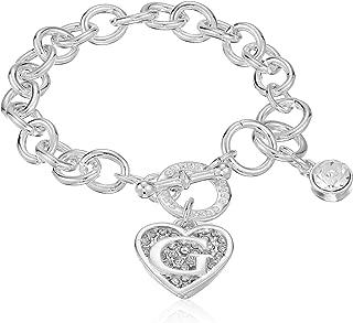 double heart toggle bracelet