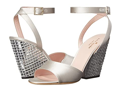 Color. Dove Satin/Clear Stoned Heel