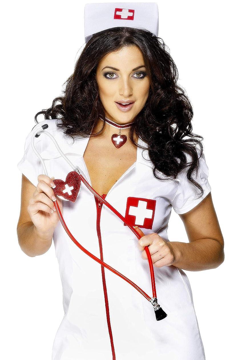コンペ神オンス聴診器 赤 ナース風 病院 看護師 医療機器 ハート 大人女性用 Nurses Heart Shaped Stethoscope