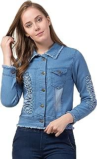 FUNDAY FASHION Rugged Sleeve Full Sleeve Solid Women's Denim Jacket…