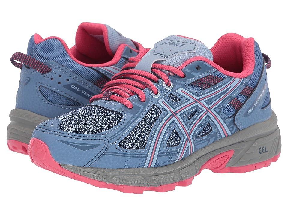 ASICS Kids GEL-Venture 6 GS (Little Kid/Big Kid) (Blue Harmony/Pink) Girls Shoes