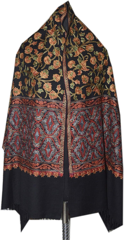 Pashmina Wrap, Pashmina Shawl Grey and Pink, Silk Shawl, Pashmina Wedding, Festival, Pashmina Scarf Wool, Silk Embroidery, Gift For Women