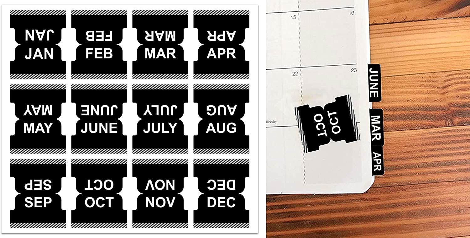 Durable Monthly Calendar Index Tab Adhesive Planne Omaha Mall Ranking TOP20 Stickers Self