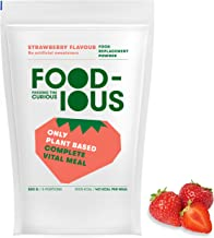FOODIOUS Strawberry Protein Powder-100 Vegan-Ideal as Meal Replacement or Diet Shake-Real Dried Strawberries Inside – 1kg 10 Complete Meals-Premium Ingredients-Low in Sugar Astronaut Food Estimated Price : £ 25,80