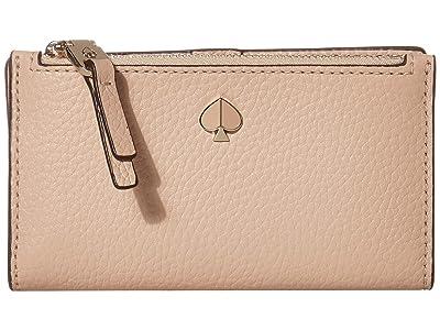 Kate Spade New York Polly Small Slim Bifold (Blush) Wallet Handbags