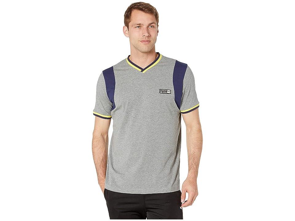 PUMA Iconic T7 Special Tee (Medium Grey Heather) Men's T Shirt, Gray