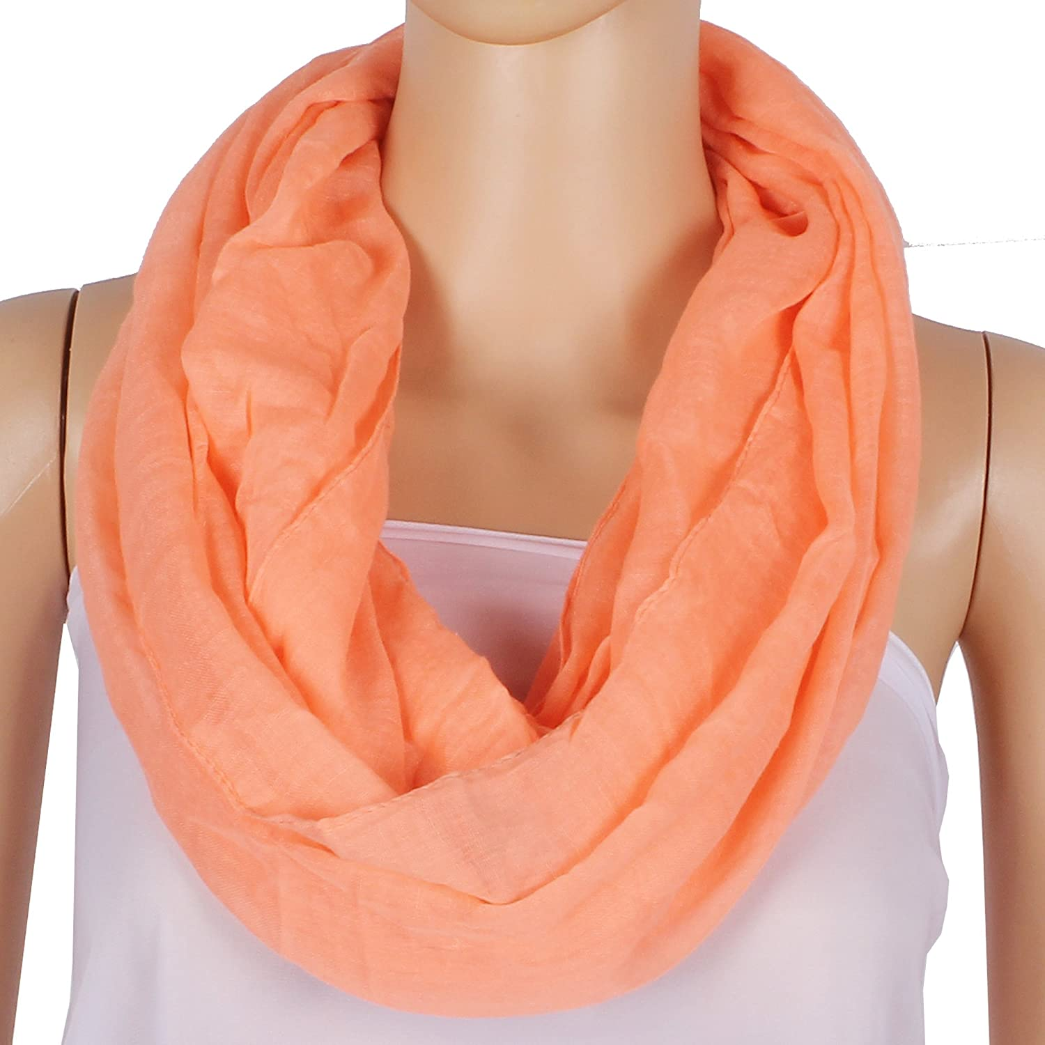 Solid Color Infinity Lightweight Women Soft Scarf