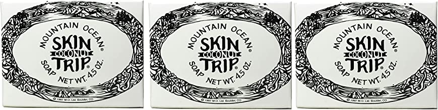 Mountain Ocean Skin Trip Coconut Soap Bar (Pack of 3) with Coconut Oil, and Aloe Vera, 4.5 oz. each