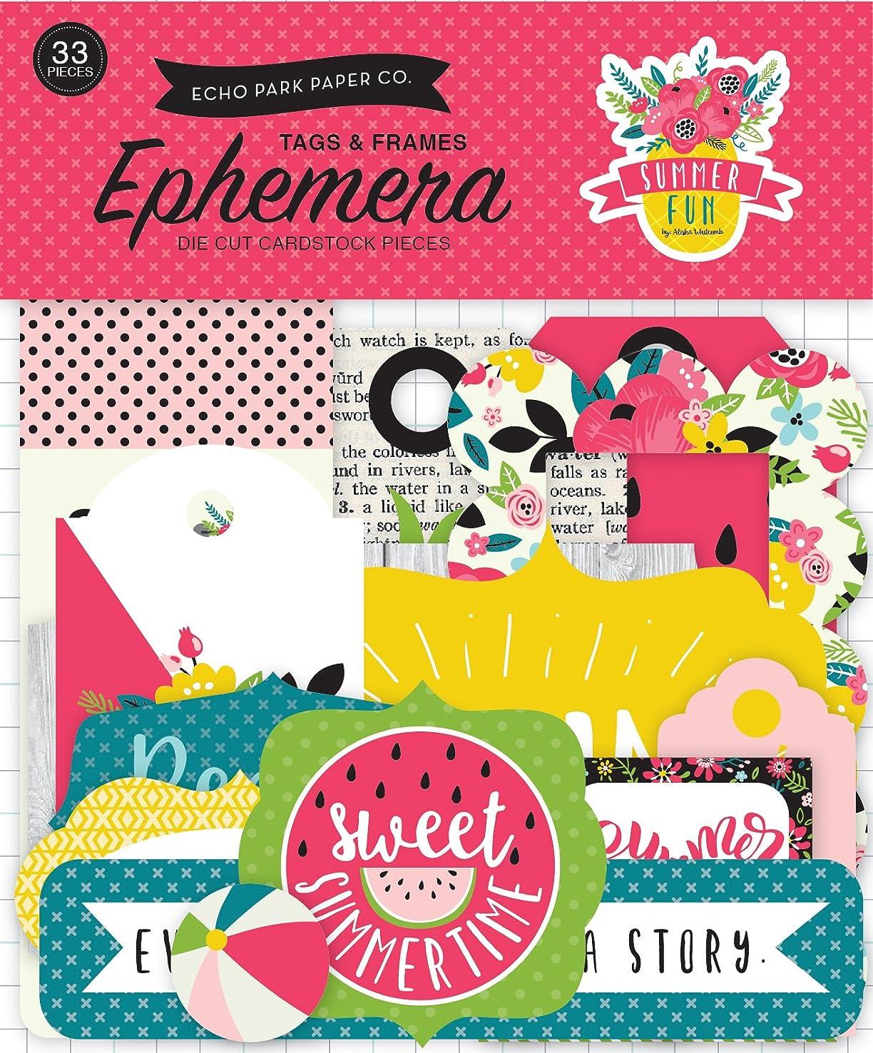 Echo Park Paper Company Summer Fun Frames & Tags Ephemera
