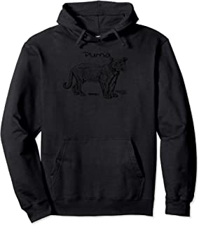Puma Cat Pullover Hoodie Mountain Lion Lover