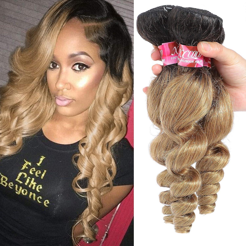 XCCOCO Brazilian Ombre Miami Super sale Mall Loose Wave Bundles Tone Lo Blonde 2
