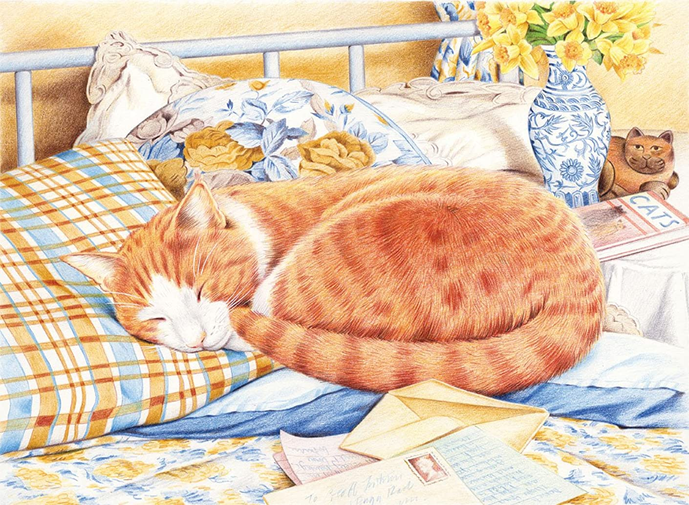 Reeves Marmalade The Cat Colored Pencil by Numbers, Large