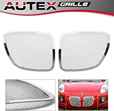 AUTEX P75545T Chrome Stainless Steel 1.8mm Wire Main Upper Mesh Grille Insert Compatible With Pontiac Solstice 2006 2007 2008 2009 Grill Insert