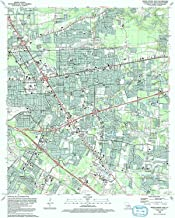 YellowMaps Baton Rouge East LA topo map, 1:24000 Scale, 7.5 X 7.5 Minute, Historical, 1992, Updated 1992, 26.8 x 21.6 in