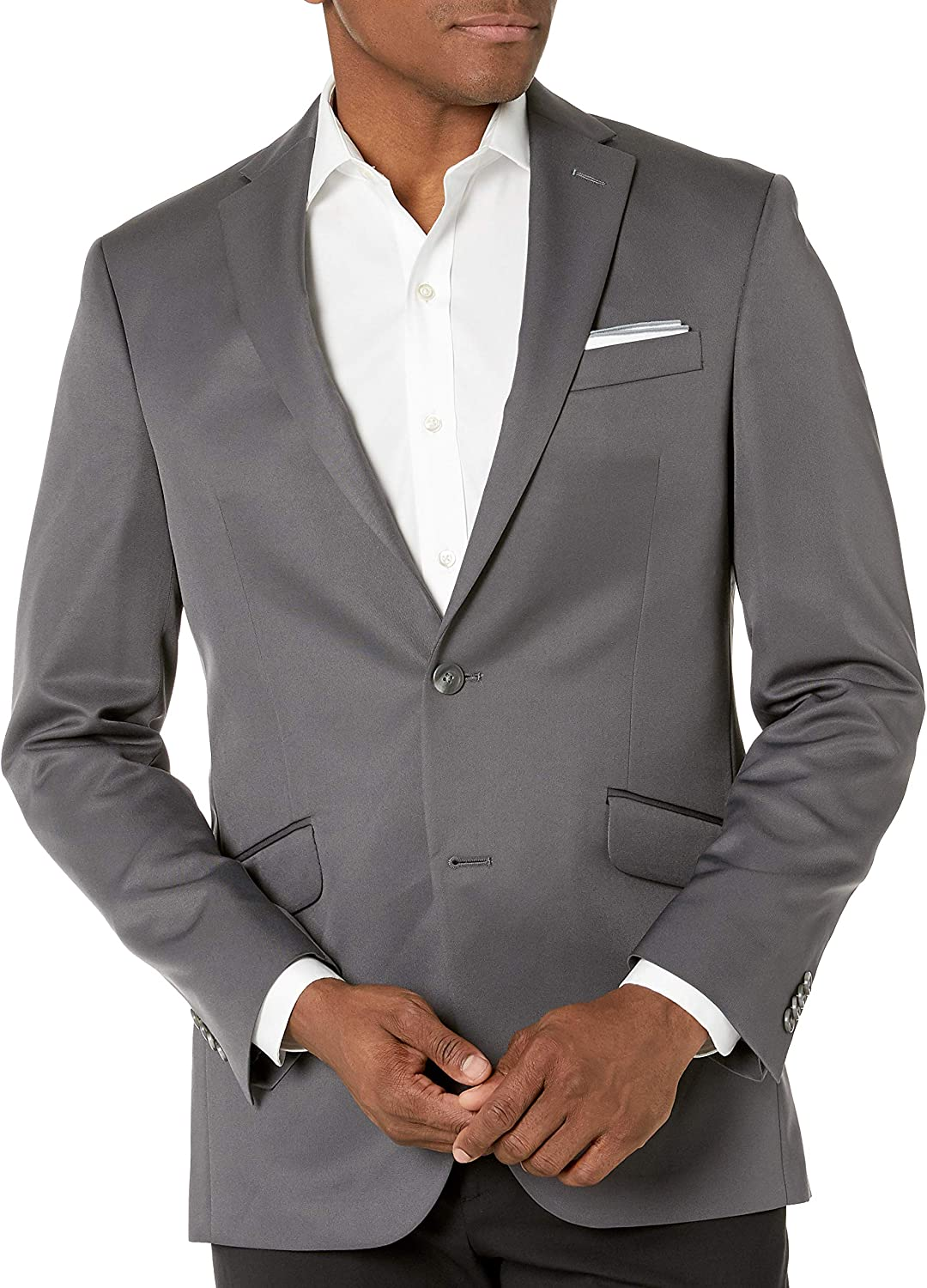 Kenneth Cole Unlisted Men's Suit Separate Jacket, Slate Grey, 38R