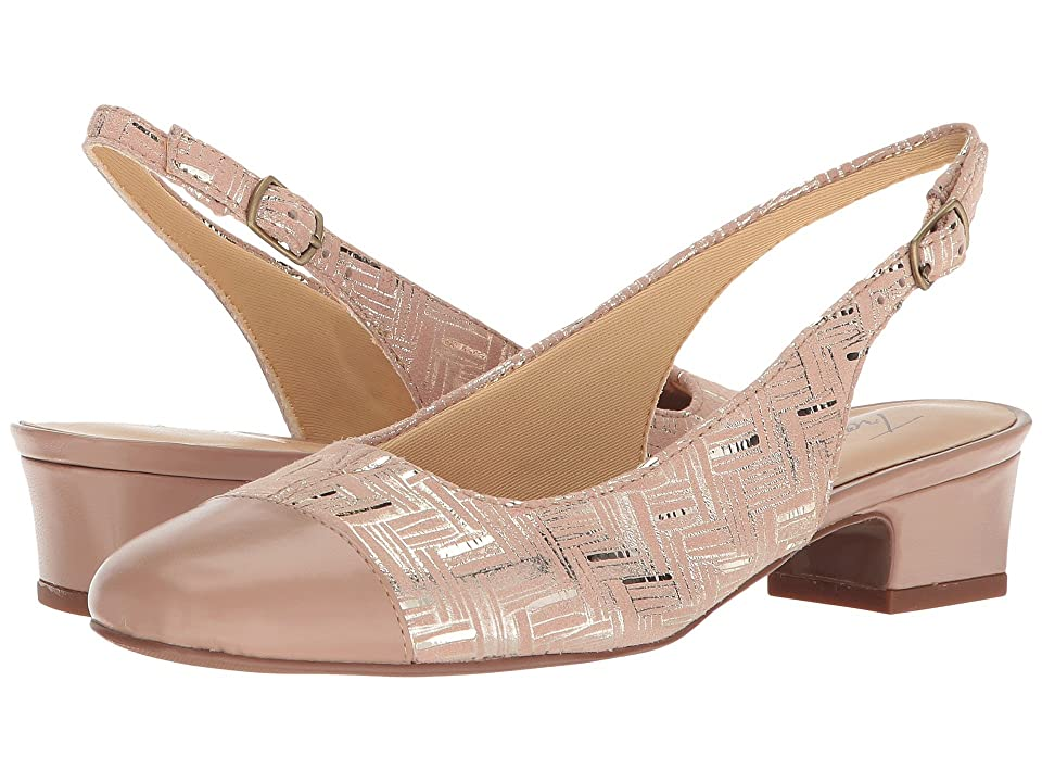 Trotters Dea (Blush Printed Woven Leather/Smooth Man Made) Women