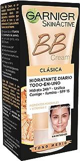 Garnier Skin Active - BB Cream Clásica Crema Hidratante Todo en 1 para Pieles Normales SPF15 con Vitamina C Tono Medio...