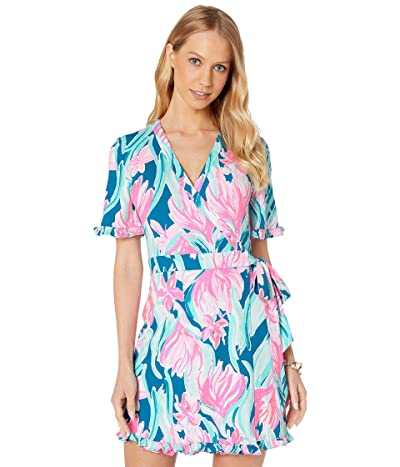 Lilly Pulitzer Liddy Romper (Mr Peacock Blue Dream A Little Dream) Women