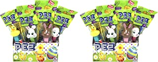 Pez Easter Candy Dispensers Individually Wrapped Dispensers and Pez Candy – Lamb, Bunny, Chick - with Tru Inertia Kazoo -Easter Basket Candy (24 Pack)