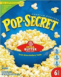 Pop Secret Popcorn, Extra Butter Microwave Popcorn, 3.2 Oz Sharing Bags, 6 Ct