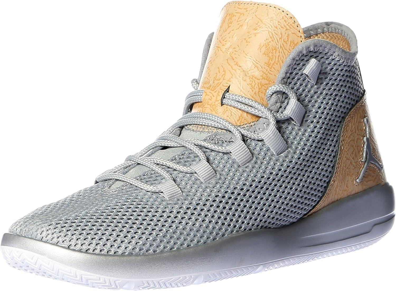 Nike Air Jordan Reveal Prem Mens Hi Top Basketball Trainers 834229 Sneakers shoes (Wolf Grey vanchetta tan White 012)