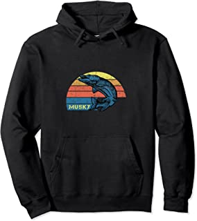 Retro Musky Fishing Hoodie with a Vintage Musky Design