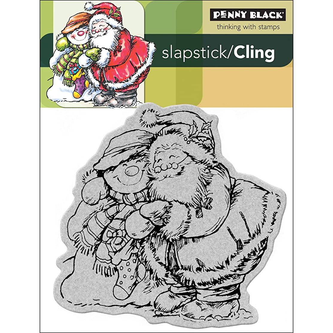 Penny Black PB40081 Cling Rubber Stamp, 4 by 5.25-Inch, Sheet Holiday Hug
