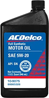 ACDelco 10-9075 5W-20 Synthetic Motor Oil - 1 qt