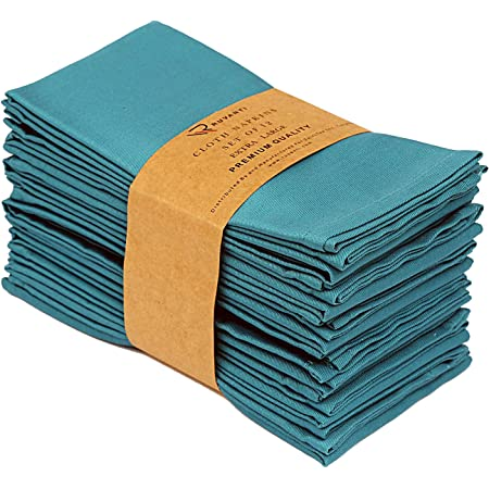 Cotton Craft Classic Cotton Set Of 12 Pure Cotton Solid Color Dinner Napkins 20 Inch X 20 Inch Assorted Colors Multi Pack Home Kitchen