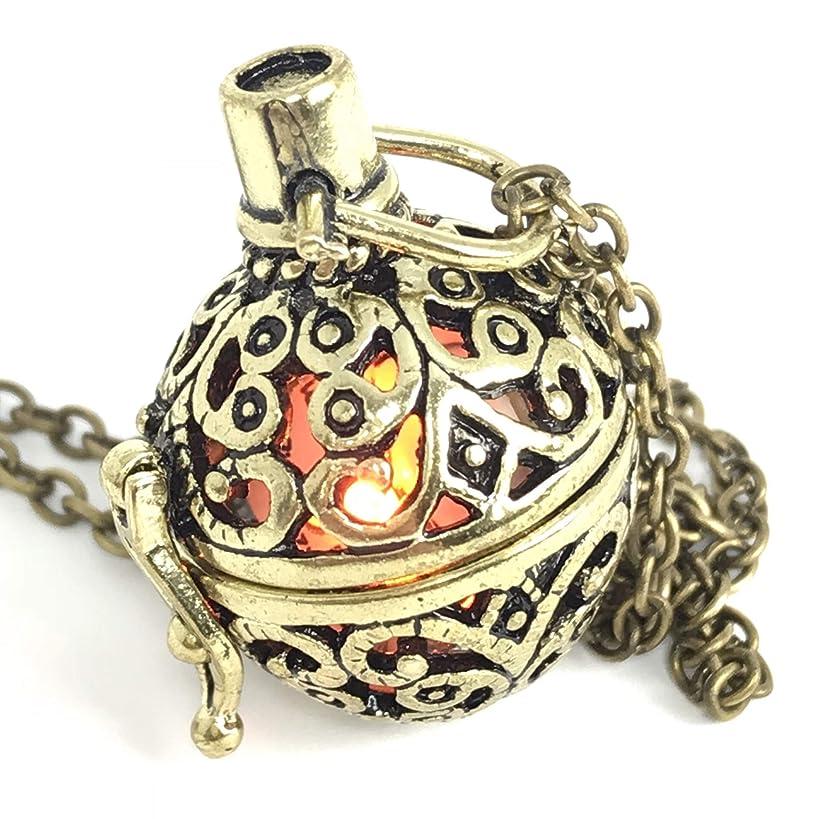 UMBRELLALABORATORY Steampunk FIRE Necklace - Pendant Charm Locket Jewelry- Great Gift-Bronze-Costume Accessory