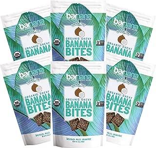 Barnana Organic Chewy Banana Bites - Coconut - 3.5 Ounce, 6 Pack Bites - Delicious Barnana Potassium Rich Banana Snacks - Lunch Dinner Sports Hiking Natural Snack - Whole 30, Paleo, Vegan