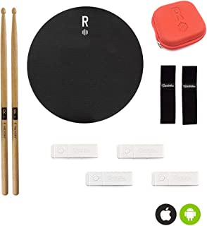 Senstroke by Redison Bluetooth Drum Kit + App | Quiet Portable Practice with 1 Pad, Drumsticks, Multiple Sensors & Protective Travel Case (Ultimate Box)