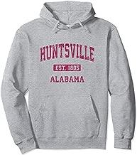 Huntsville Alabama AL Vintage Athletic Sports Design Pullover Hoodie