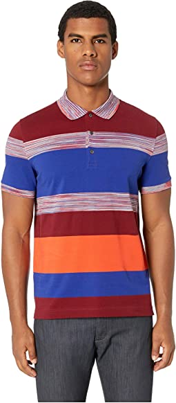 Striped Color Block Polo