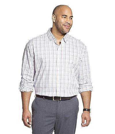 Van Heusen Big and Tall Traveler Stretch Long Sleeve Button Down Blue/White/Purple Shirt