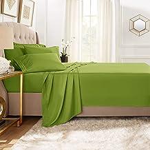 مجموعة كلارا كلارك بريميوم 1800 من 5 قطع، ملاءة سرير مع أغطية وسائد إضافية Twin CC-5pc-Sheets-T-calla